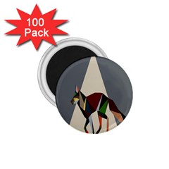 Nature Animals Artwork Geometry Triangle Grey Gray 1 75  Magnets (100 Pack)