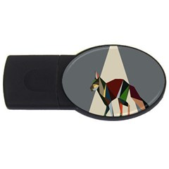 Nature Animals Artwork Geometry Triangle Grey Gray Usb Flash Drive Oval (2 Gb) by Alisyart