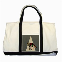 Nature Animals Artwork Geometry Triangle Grey Gray Two Tone Tote Bag