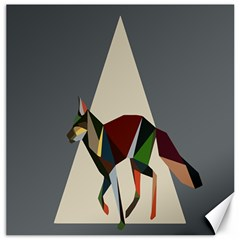 Nature Animals Artwork Geometry Triangle Grey Gray Canvas 20  X 20   by Alisyart