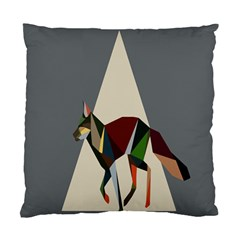 Nature Animals Artwork Geometry Triangle Grey Gray Standard Cushion Case (one Side) by Alisyart
