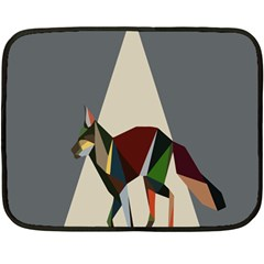 Nature Animals Artwork Geometry Triangle Grey Gray Double Sided Fleece Blanket (mini)