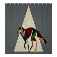 Nature Animals Artwork Geometry Triangle Grey Gray Shower Curtain 66  X 72  (large)