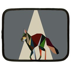 Nature Animals Artwork Geometry Triangle Grey Gray Netbook Case (xxl)