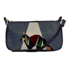Nature Animals Artwork Geometry Triangle Grey Gray Shoulder Clutch Bags