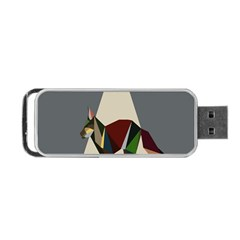 Nature Animals Artwork Geometry Triangle Grey Gray Portable Usb Flash (one Side) by Alisyart
