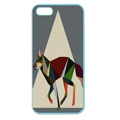 Nature Animals Artwork Geometry Triangle Grey Gray Apple Seamless Iphone 5 Case (color)