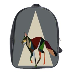 Nature Animals Artwork Geometry Triangle Grey Gray School Bags (xl)