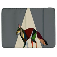 Nature Animals Artwork Geometry Triangle Grey Gray Samsung Galaxy Tab 7  P1000 Flip Case by Alisyart