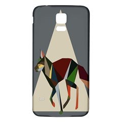 Nature Animals Artwork Geometry Triangle Grey Gray Samsung Galaxy S5 Back Case (white) by Alisyart
