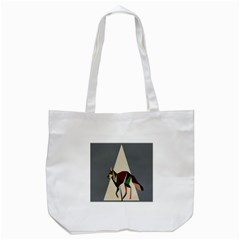 Nature Animals Artwork Geometry Triangle Grey Gray Tote Bag (white)