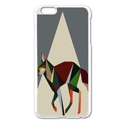 Nature Animals Artwork Geometry Triangle Grey Gray Apple Iphone 6 Plus/6s Plus Enamel White Case