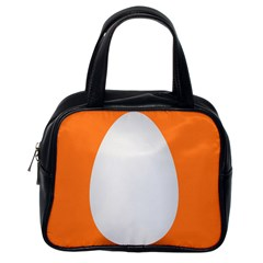 Orange White Egg Easter Classic Handbags (one Side)