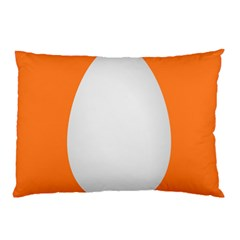 Orange White Egg Easter Pillow Case (two Sides)