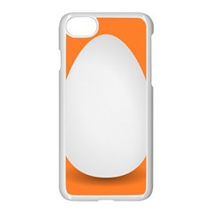 Orange White Egg Easter Apple Iphone 7 Seamless Case (white)