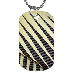 Line Chevron Triangle Grey Dog Tag (two Sides) by Alisyart