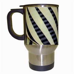 Line Chevron Triangle Grey Travel Mugs (white)