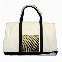 Line Chevron Triangle Grey Two Tone Tote Bag