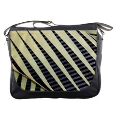Line Chevron Triangle Grey Messenger Bags by Alisyart