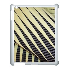 Line Chevron Triangle Grey Apple Ipad 3/4 Case (white)