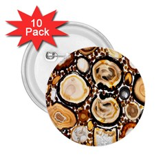 Natural Agate Mosaic 2 25  Buttons (10 Pack)