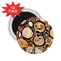 Natural Agate Mosaic 2 25  Magnets (10 Pack)