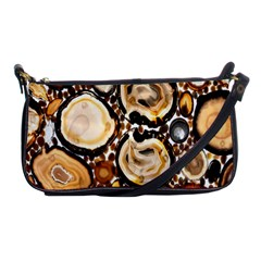 Natural Agate Mosaic Shoulder Clutch Bags