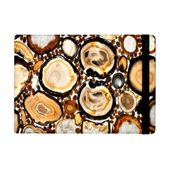 Natural Agate Mosaic Apple Ipad Mini Flip Case by Alisyart