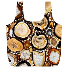 Natural Agate Mosaic Full Print Recycle Bags (l)