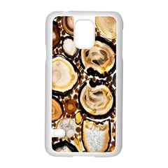 Natural Agate Mosaic Samsung Galaxy S5 Case (white)