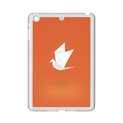 Origami Bird Animals White Orange Ipad Mini 2 Enamel Coated Cases