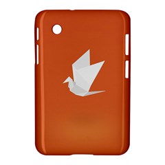 Origami Bird Animals White Orange Samsung Galaxy Tab 2 (7 ) P3100 Hardshell Case  by Alisyart