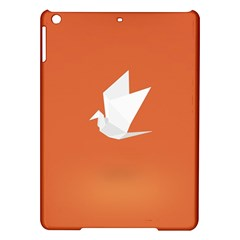 Origami Bird Animals White Orange Ipad Air Hardshell Cases by Alisyart