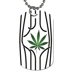 Marijuana Jail Leaf Green Black Dog Tag (two Sides)