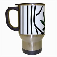 Marijuana Jail Leaf Green Black Travel Mugs (white)