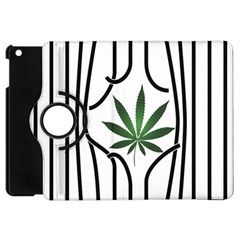 Marijuana Jail Leaf Green Black Apple Ipad Mini Flip 360 Case by Alisyart