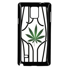Marijuana Jail Leaf Green Black Samsung Galaxy Note 4 Case (black)