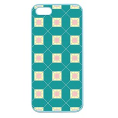 Regular Triangulation Plaid Blue Apple Seamless Iphone 5 Case (color)