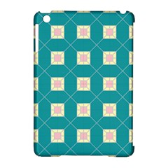Regular Triangulation Plaid Blue Apple Ipad Mini Hardshell Case (compatible With Smart Cover)