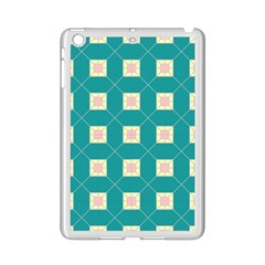 Regular Triangulation Plaid Blue Ipad Mini 2 Enamel Coated Cases