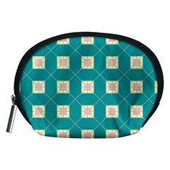 Regular Triangulation Plaid Blue Accessory Pouches (medium)
