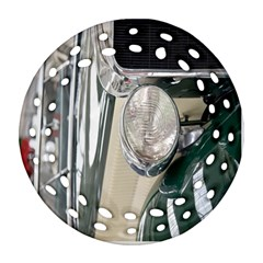 Auto Automotive Classic Spotlight Round Filigree Ornament (two Sides) by Nexatart