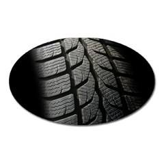 Auto Black Black And White Car Oval Magnet
