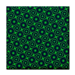 Plaid Green Light Tile Coasters