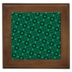Plaid Green Light Framed Tiles