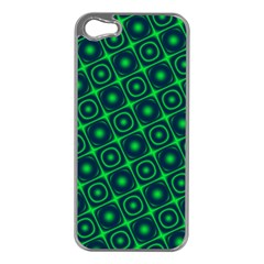 Plaid Green Light Apple Iphone 5 Case (silver)