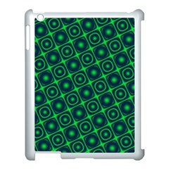 Plaid Green Light Apple Ipad 3/4 Case (white)