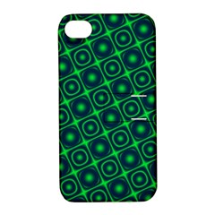 Plaid Green Light Apple Iphone 4/4s Hardshell Case With Stand