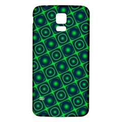 Plaid Green Light Samsung Galaxy S5 Back Case (white) by Alisyart