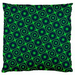 Plaid Green Light Large Flano Cushion Case (two Sides)